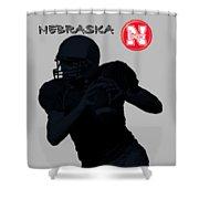 Nebraska Football Shower Curtain