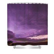 Nebraska Night Thunderstorms 008 Shower Curtain