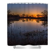 Nebraska Sunset Shower Curtain