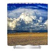 Nebraska Thunderhead Shower Curtain