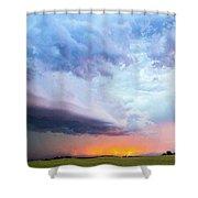 Nebraska Thunderstorm Eye Candy 021 Shower Curtain