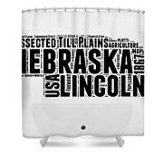 Nebraska Word Cloud 2 Shower Curtain