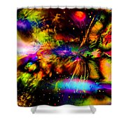 Nebula Collision Course Shower Curtain
