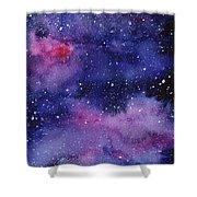 Nebula Watercolor Galaxy Shower Curtain