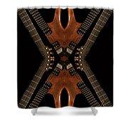 Necking Guitars Shower Curtain