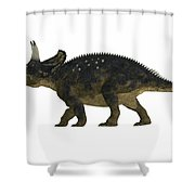 Nedoceratops Side Profile Shower Curtain