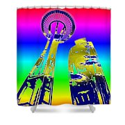 Needle And Ferris Wheel Fractal Shower Curtain