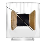 Needle And Thread Shower Curtain
