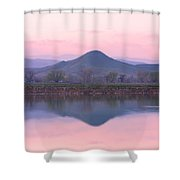 Needle In A Haystack Mountain Shower Curtain