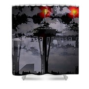 Needle In Flux Shower Curtain