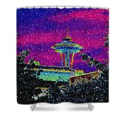 Needle In Mosaic 2 Shower Curtain