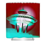 Needle In Red Shower Curtain