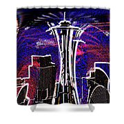 Needle In The City Shower Curtain