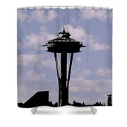 Needle In The Clouds Shower Curtain