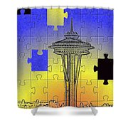Needle Jigsaw Shower Curtain