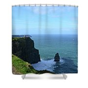 Needle Rock Formation And The Burren Pathway In Ireland Shower Curtain