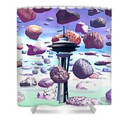 Needle Rocks Shower Curtain