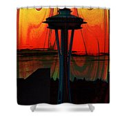 Needle Silhouette 3 Shower Curtain