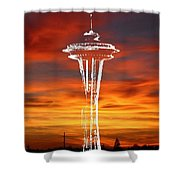Needle Silhouette Shower Curtain