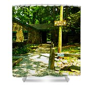 Neel Gap Appalachian Trail Shower Curtain