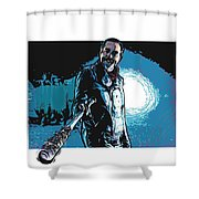 Negan Shower Curtain by Antonio Romero