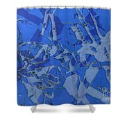 Negative Photo Silkscreen Shower Curtain