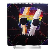 Negative Relations 9 Shower Curtain
