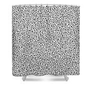 Negative Sponge Bone Confusion Shower Curtain