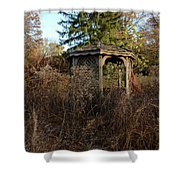 Neglected Old Gazebo Shower Curtain