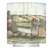 Negotiations Shower Curtain