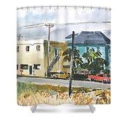 Neighborhood Corner Shower Curtain