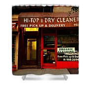 Neighborhood Shop - Dry Cleaners Shower Curtain