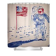 Neil Armstrong Shower Curtain