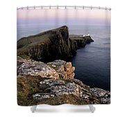 Neist Point Lighthouse, Isle Of Skye, Scotland Shower Curtain