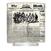 Nellie Bly (1867-1922) Shower Curtain