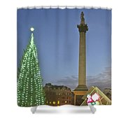 Nelson's Christmas Tree Shower Curtain