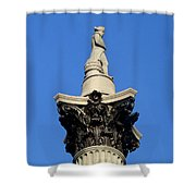 Nelson's Column, Trafalgar Square, London Shower Curtain
