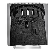 Nenagh Castle Tower Bw Shower Curtain