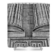 Neo Classical Architectural Detail In New York City Shower Curtain