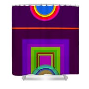 Neo-classical Cart Shower Curtain