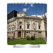 Neo Renaissance Architecture Of The Slovenian National Opera And Shower Curtain