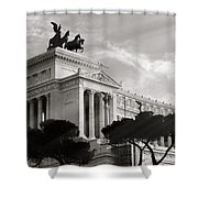 Neoclassical Architecture In Rome Shower Curtain by Stefano Senise