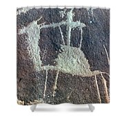 Neolithic Petroglyph Shower Curtain