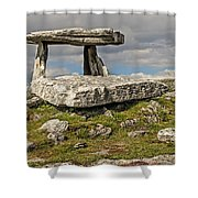Neolithic Teleport - Portal Tomb In The Burren Shower Curtain