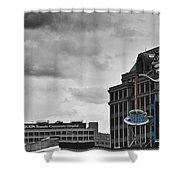 Neon Architecture Roanoke Virginia Shower Curtain