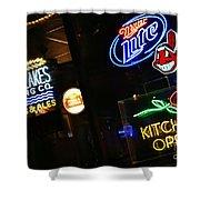 Neon Bar Signs Shower Curtain