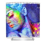 Neon Beauty Shower Curtain