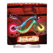 Neon Bicycle Shower Curtain