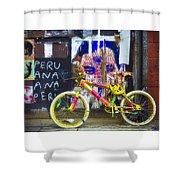 Neon Bike Shower Curtain