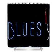 Neon Blues Shower Curtain